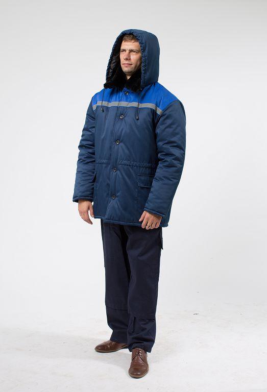 Куртка зимняя рабочая с капюшоном и СОП