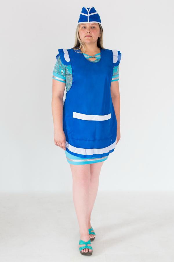 Фартук женский нейлоновый синего цвета