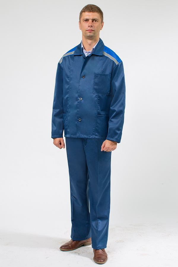 Мужская роба синего цвета куртка и брюки