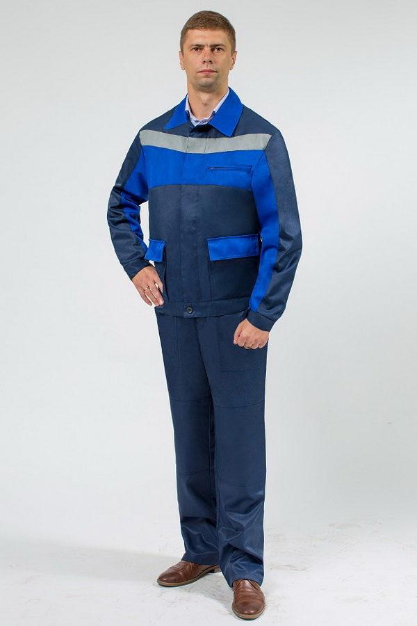 Мужская роба синего цвета с СОП и васильковыми вставками