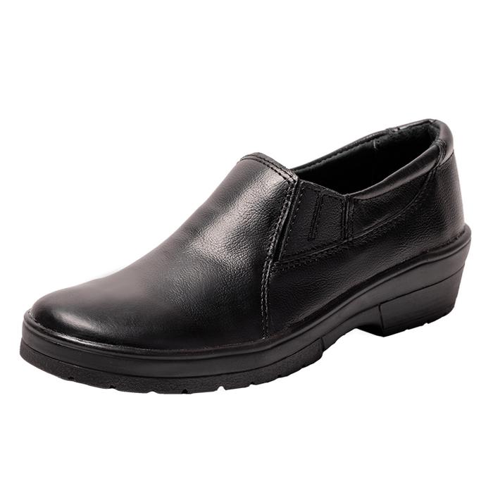 Туфли из кожи черного цвета