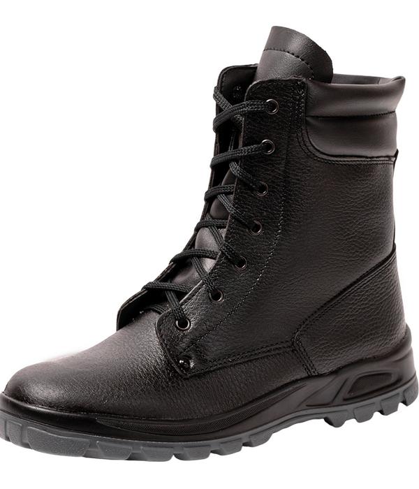 Ботинки рабочие высокие утепленные черного цвета