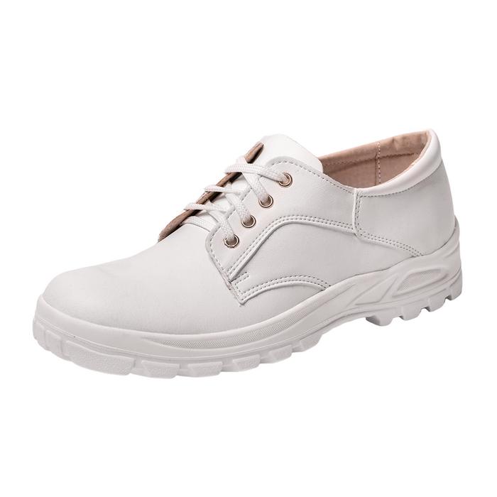 Красивые белые ботинки для работы
