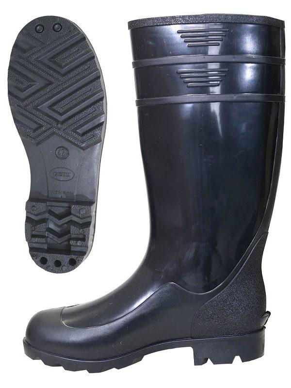 Сапоги ПВХ высокие мужские черного цвета